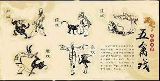 Positions des 5 animaux Wu Qin Xi